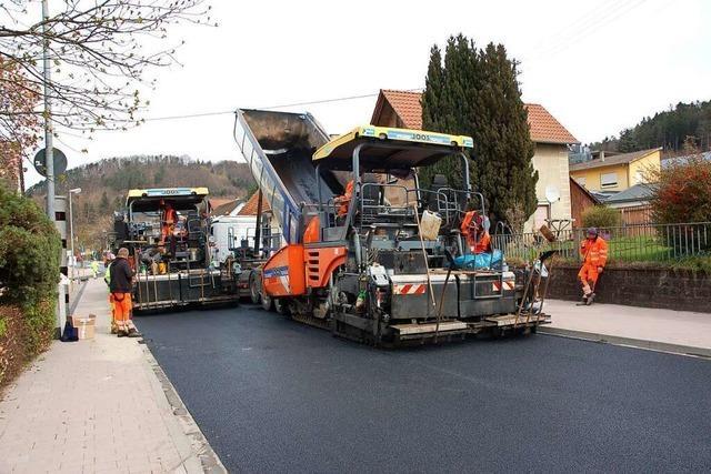 Die Sperrung der Ortsdurchfahrt Lahr-Reichenbach ist ohne größere Probleme verlaufen