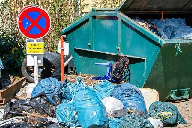 Hausener Abfalldetektive säubern das Dorf