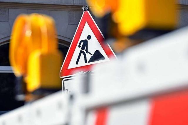 Zähringer Straße stadteinwärts bis Mitte Juni gesperrt