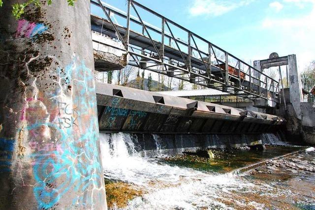Das Linnerwehr in Kollnau kann für Lachse umgebaut werden