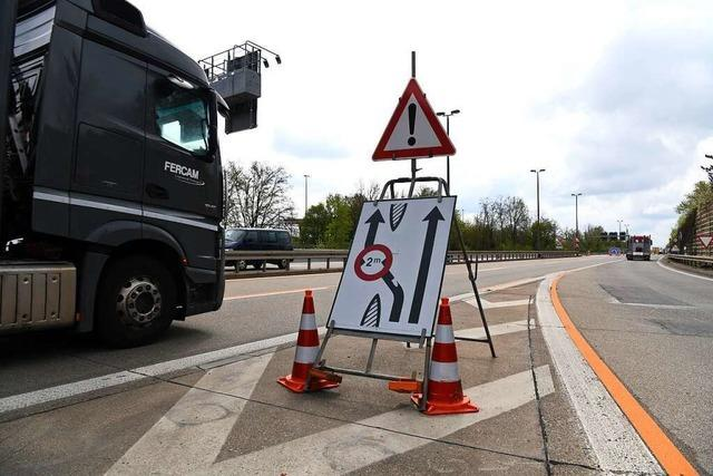 Die Autobahnbrücke zwischen Basel und Weil am Rhein wird saniert