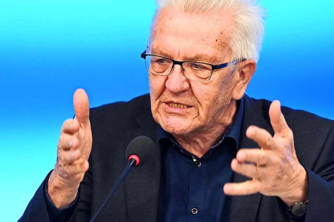 Baden-Württembergs Ministerpräsident Winfried Kretschmann  | Foto: Bernd Weißbrod (dpa)