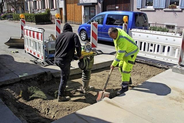 Erneut Wasserrohrbruch in Bötzinger Hauptstraße