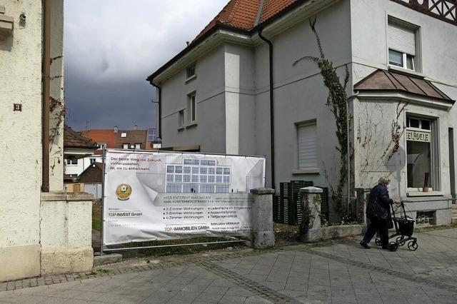 Werbung für Neubauprojekt