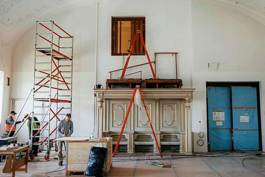 Der Musiksaal wird saniert.  | Foto: Quirin Leppert