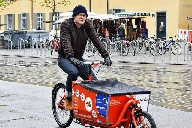 Beim Freiburger Frelo-System gibt's jetzt auch Lastenräder mit Elektroantrieb