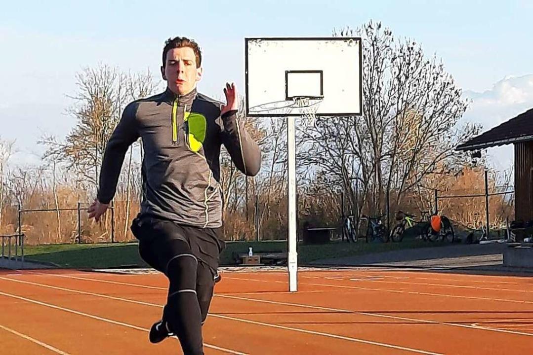 Sprint in die Abendsonne: Yannik Winte...fft auf den Sprung in den Bundeskader.  | Foto: Johannes Bachmann