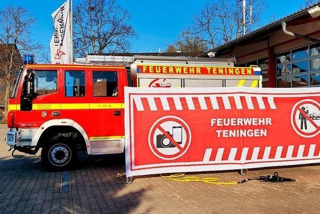 Feuerwehr Teningen hat nun Sichtschutz für Gaffer bei Einsätzen