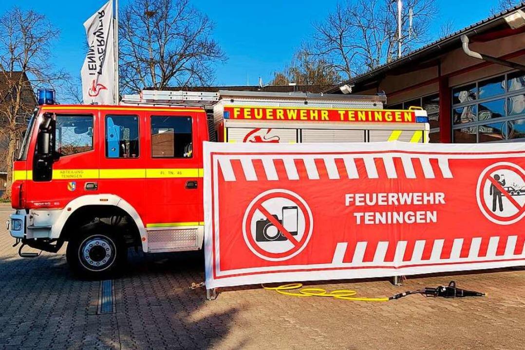 Die Schutzwand der Feuerwehr Teningen ...sätzen zukünftig die Sicht versperren.  | Foto: Feuerwehr Teningen