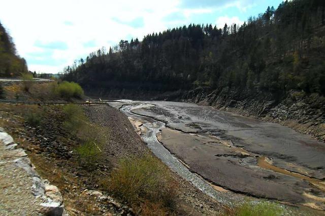 Wehra-Stausee ist zum ersten Mal seit 45 Jahren ohne Wasser