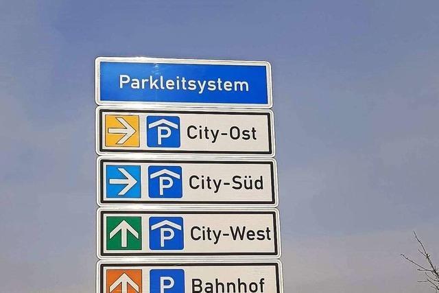 Das Offenburger Parkleitsystem ist runderneuert