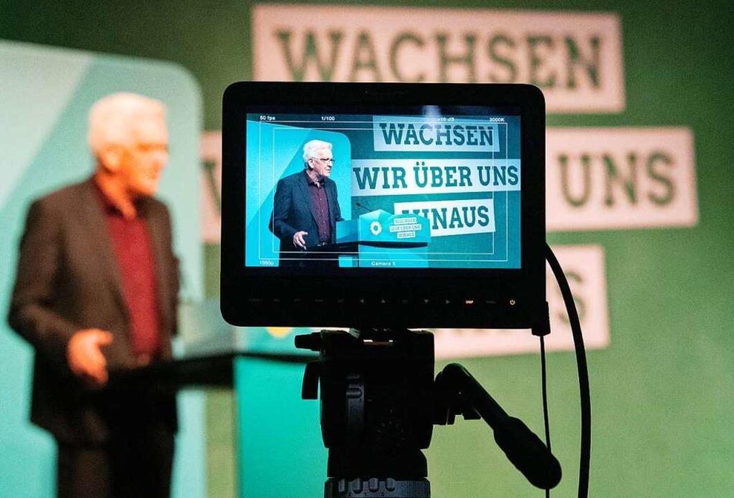 Gerhard Zickenheiner (links) ist mit s...arteitag  der Grünen (oben) zufrieden.    Foto: Marijan Murat (dpa)