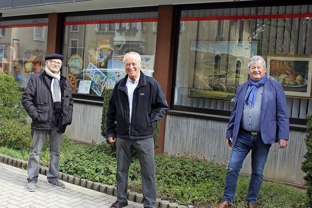 Drei Männer, vier Bilder