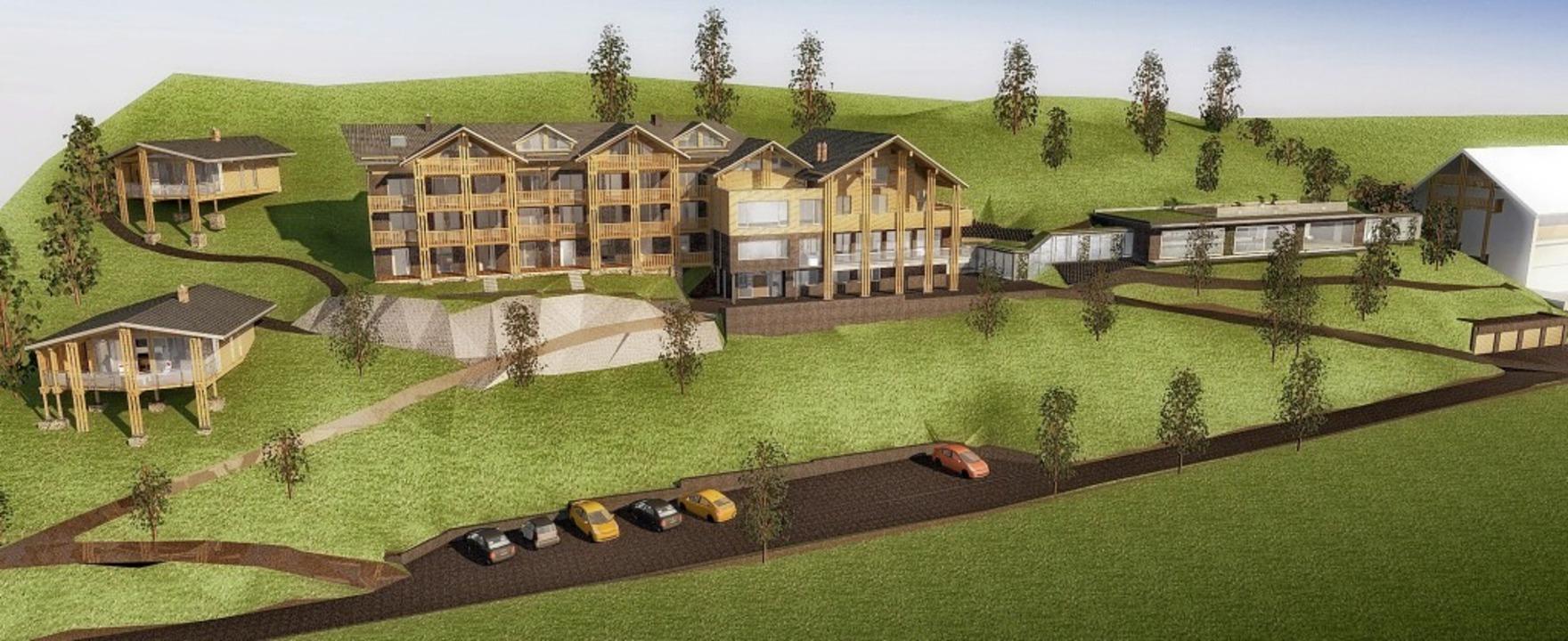 So soll es nach der Erweiterung um die Black Forest Lodge aussehen.   | Foto: Grafik Architekt Wolfgang Schweizer