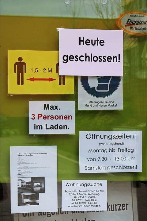 Einige Geschäfte waren bereits geschlossen.    Foto: Annika Sindlinger