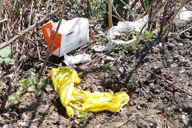 In Weil am Rhein wird immer häufiger Müll in die Natur geschmissen