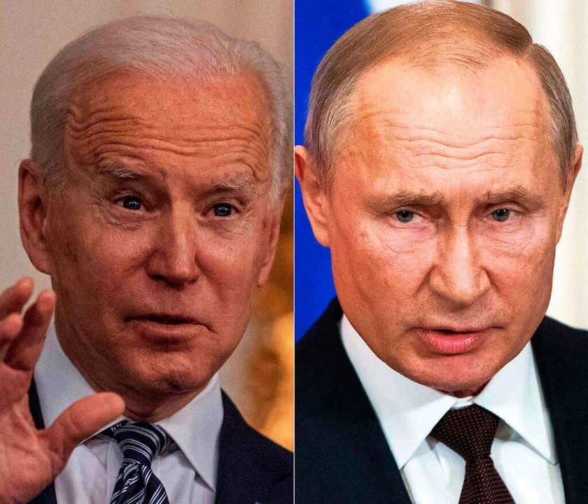 US-Präsident Joe Biden und Wladimir Putin.  | Foto: ERIC BARADAT, PAVEL GOLOVKIN (AFP)