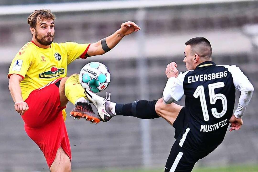 Sandrino Braun-Schumacher (links) ist ...für den SC Freiburg II  einsatzbereit.  | Foto: Achim Keller