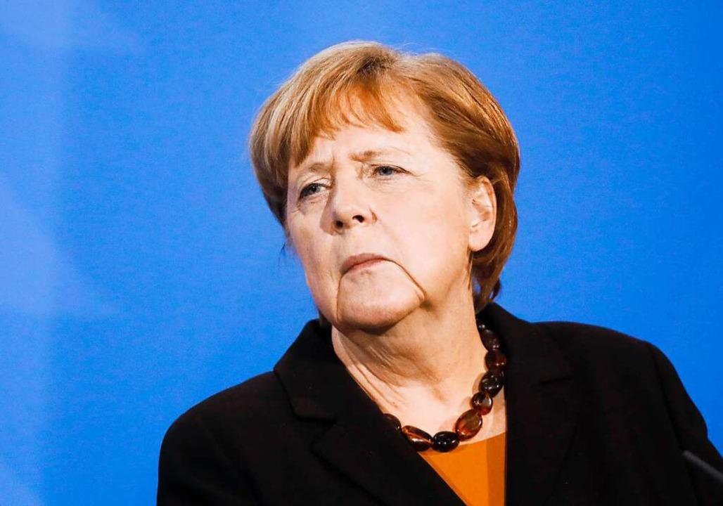 Die Bundeskanzlerin soll einem Medienb...fstoff von Astrazeneca geimpft werden.  | Foto: Markus Schreiber (dpa)