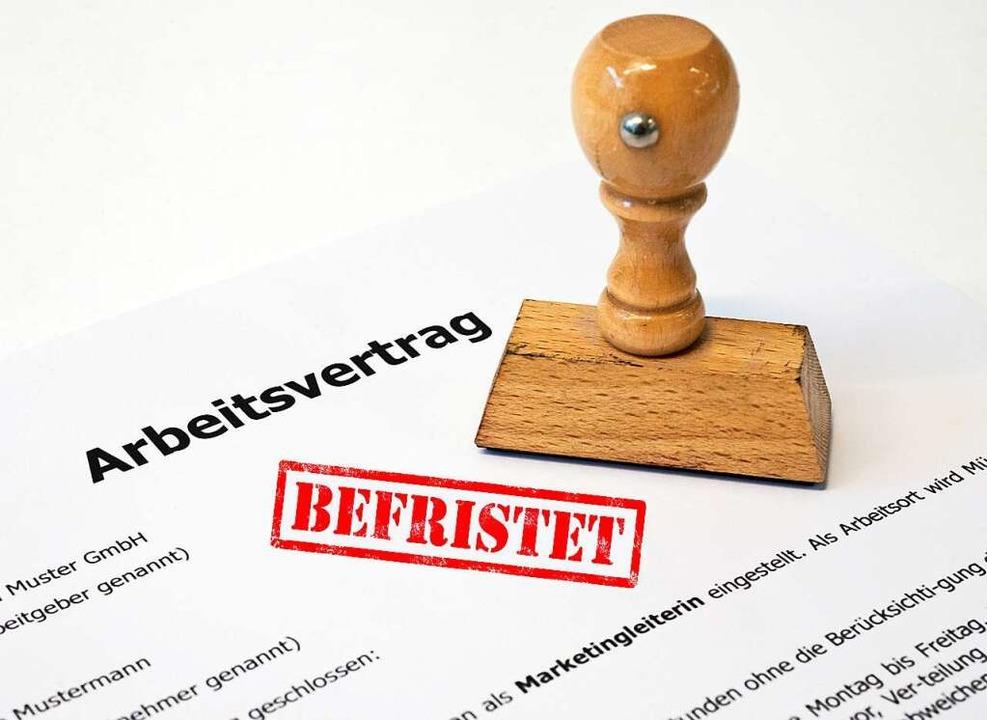 Ein befristeter Vertrag bringt Unsicherheit.  | Foto: Andrea Warnecke