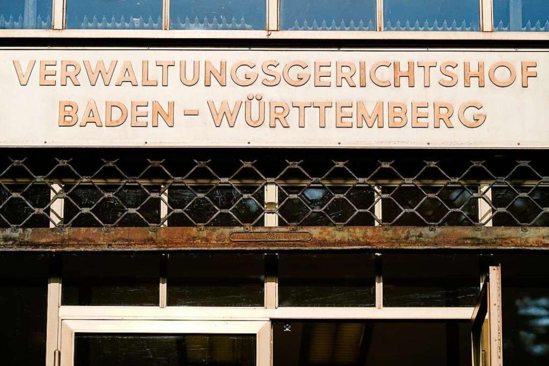Der Verwaltungsgerichtshof in Mannheim...erwaltungsgericht in Baden-Württemberg  | Foto: Uwe Anspach (dpa)