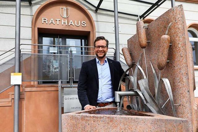 So lief der erste Arbeitstag von Neurieds Bürgermeister Tobias Uhrich