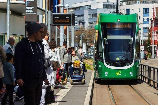 In Basel gibt es Kritik an den Kap-Haltestellen der Tram