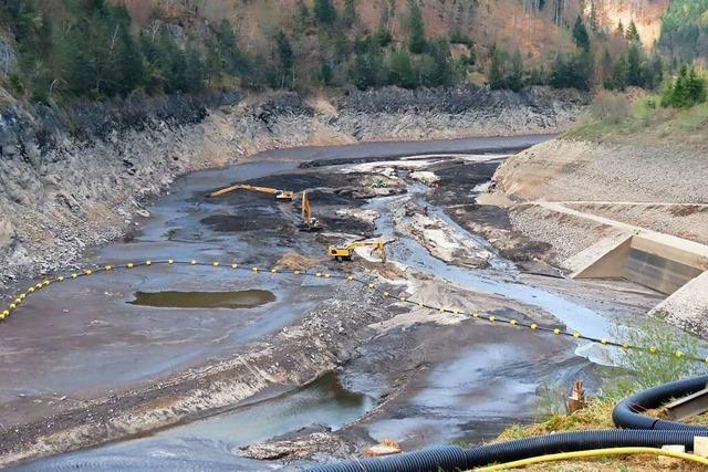 Wehra durch Sedimente verunreinigt