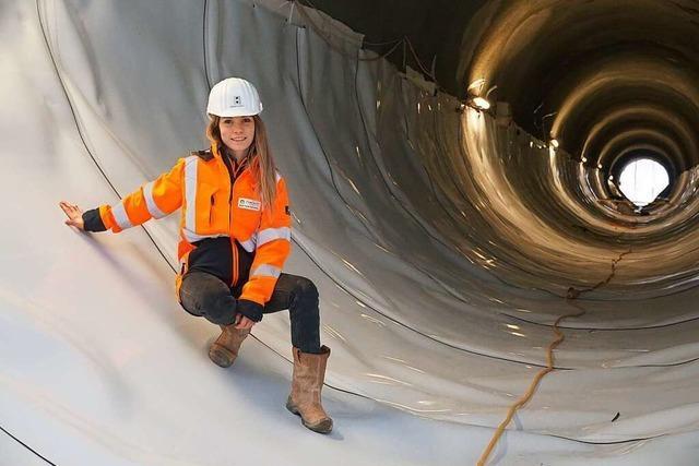 Wie eine 28-jährige Bauingenieurin am Brandbergtunnel arbeitet