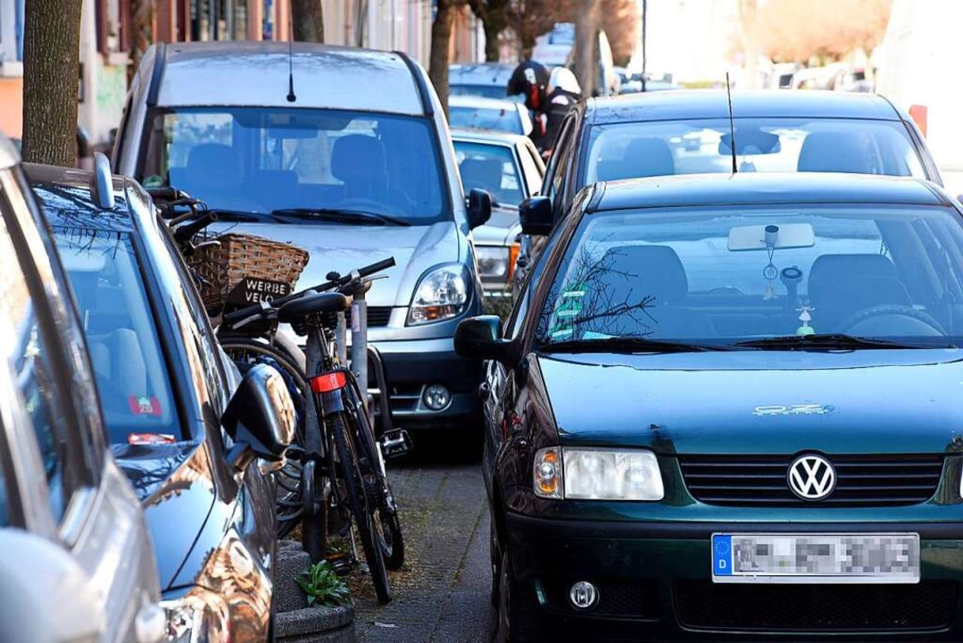 Die Grünen haben sich mit einer besond...s Anwohnerparken bepreist werden kann.    Foto: Thomas Kunz