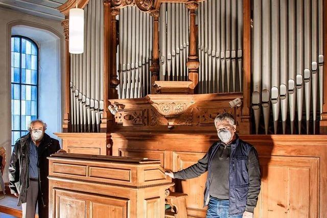 Merklin-Orgel erhält Originalpfeifen, die auf dem Dachboden der Kirche gefunden wurden