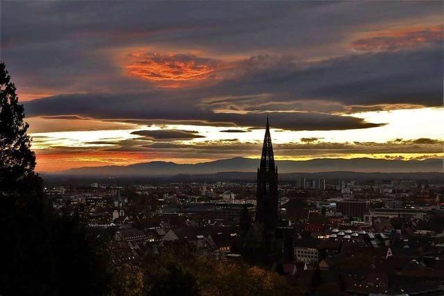 Freiburg, wundervoll beleuchtet.