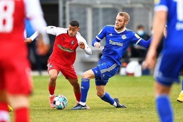 Konrad Faber gelingt für den SC Freiburg II