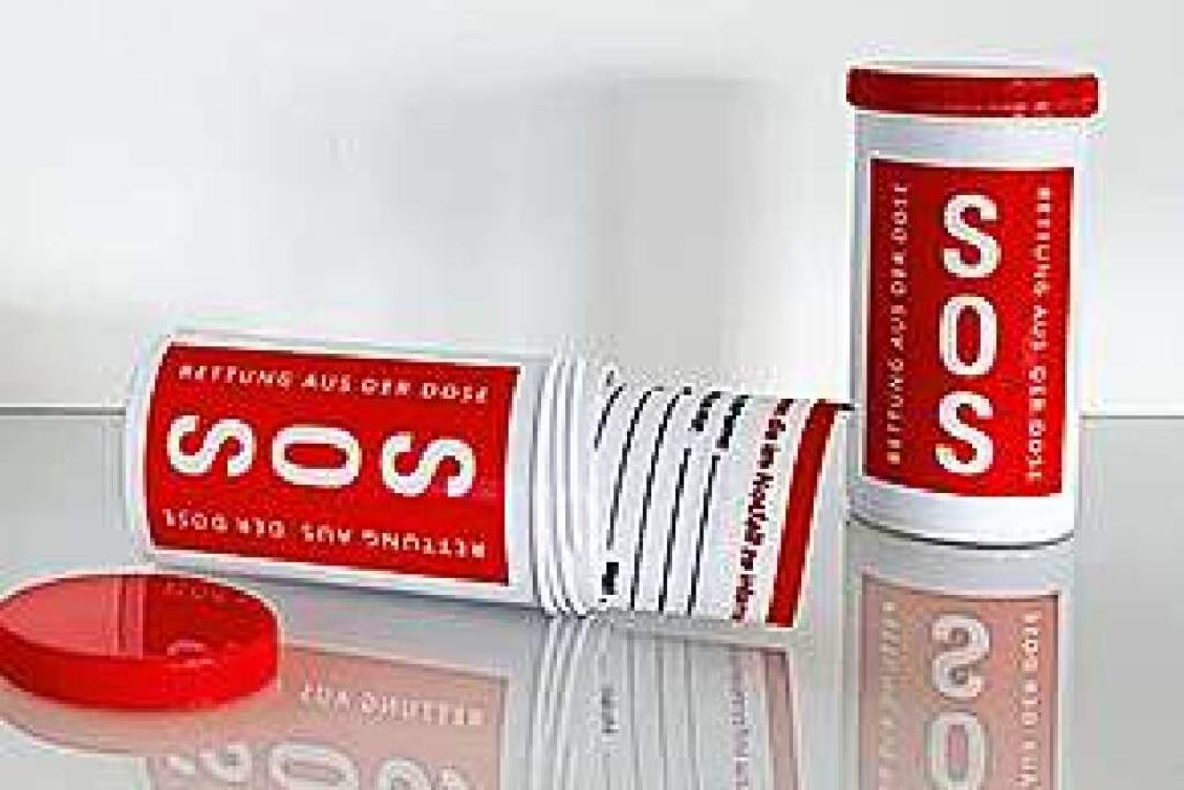 Kann Leben retten: Die Notfalldose für den Kühlschrank.    Foto: www.lions-schloss-philippsruhe.de