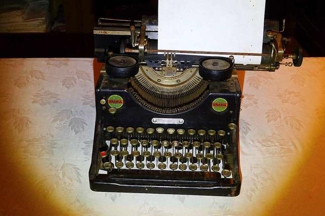 Die Reichenbacher Verwaltung schaffte 1924 die erste Schreibmaschine an