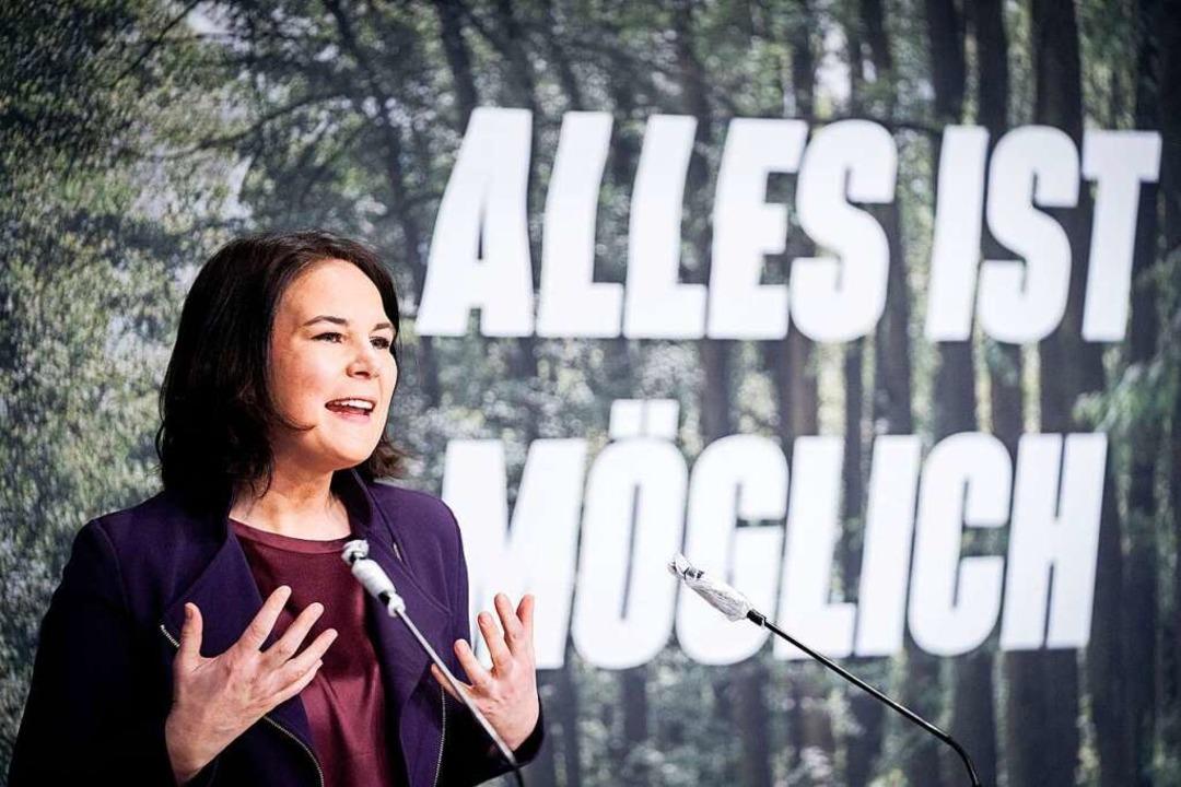 Seit Montagvormittag Kandidatin der Grünen für das Kanzleramt: Annalena Baerbock  | Foto: Kay Nietfeld (dpa)