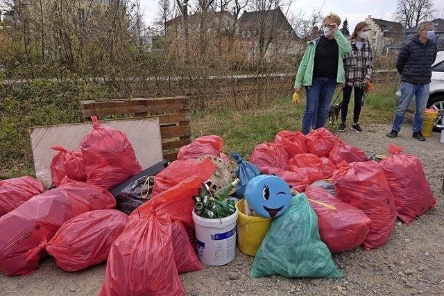 Stets auf Suche nach Müll