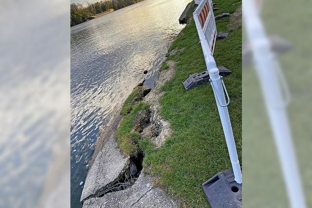 Böschung am Hertener Loch abgebrochen