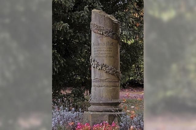 Grabmal von Friedrich Neff wird restauriert