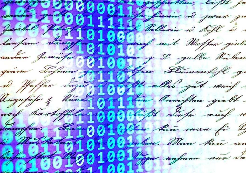 Mit Handschriften wie dieser wird in e...e Intelligenz gefüttert und trainiert.    Foto: Zipperlen