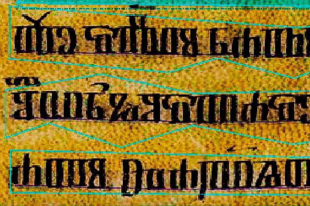 Auch Glagolitische Handschriften aus Kroatien erkennt das System.  | Foto: Achim Rabus