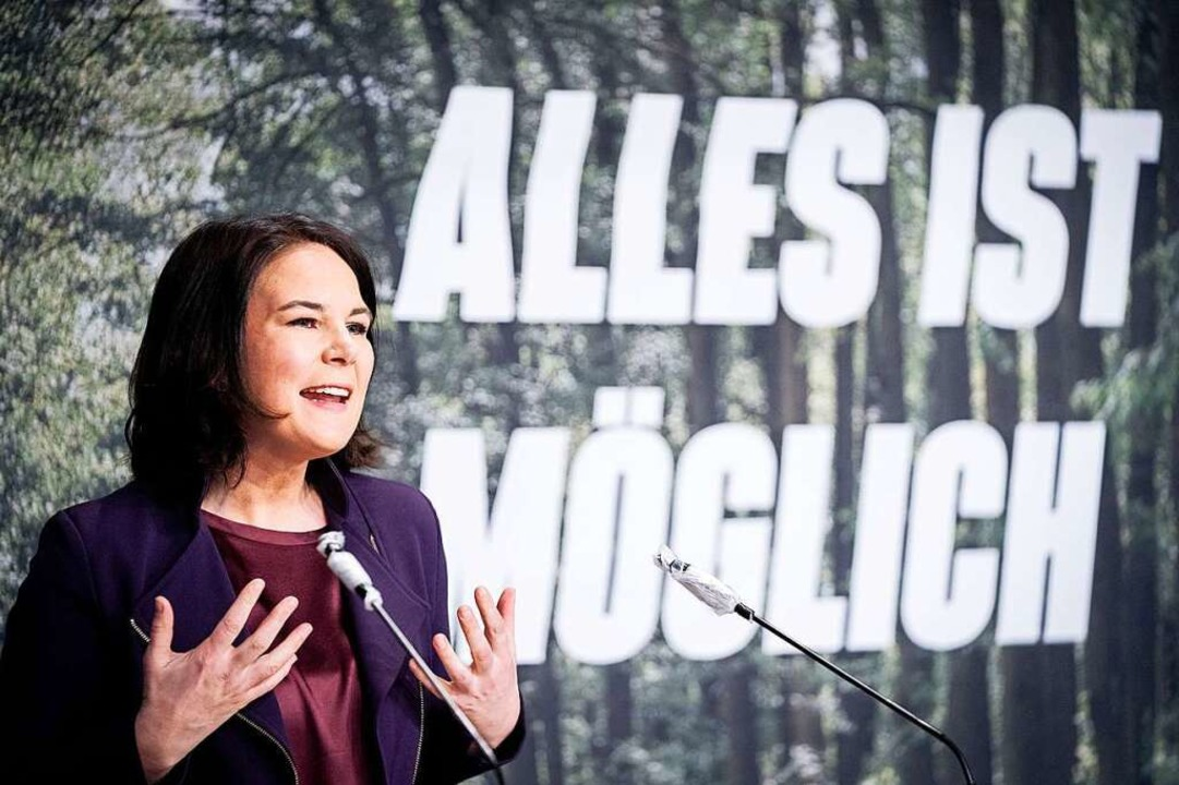 Was Annalena Baerbock und die Grünen m...ht kommen, muss sich erst noch zeigen.  | Foto: Kay Nietfeld (dpa)