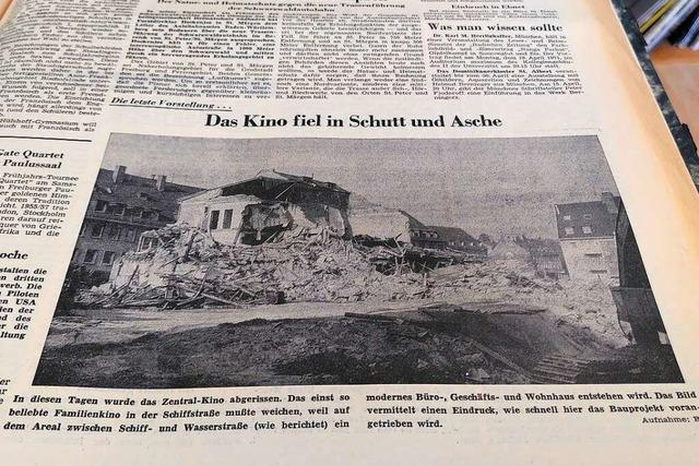 Das ehemalige Zentral-Kino lag im April 1971 in Trümmern