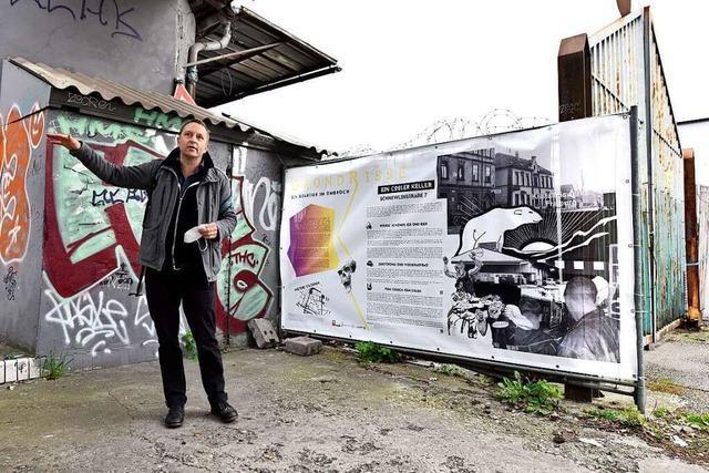 Eine Open-Air-Ausstellung informiert über das Freiburger Sedanquartier