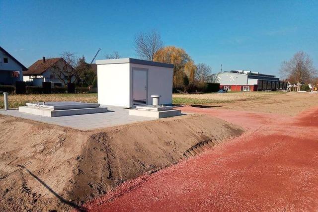 Die Brunnengalerien bei Nonnenweier sind fast fertiggebaut