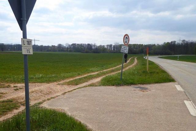 Die Lücke im Radweg zwischen Gottenheim und Buchheim soll geschlossen werden