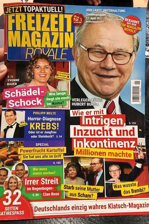 """Das """"Freizeit Magain Royale""""    Foto: Gregor Tholl (dpa)"""