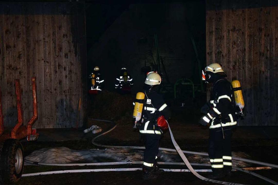 Der Brand griff nicht auf das Ökonomiegebäude über.    Foto: Kamera24