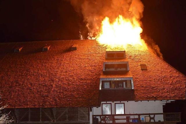 750.000 Euro Schaden bei Brand eines Bauernhofs in Jostal