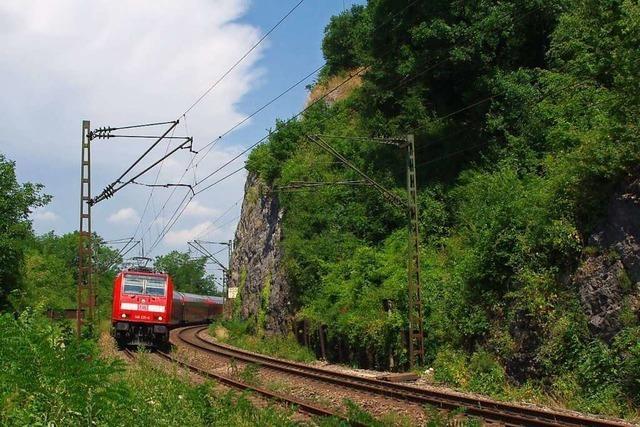 Die badische Hauptbahn fuhr zunächst auf eigener Spurweite